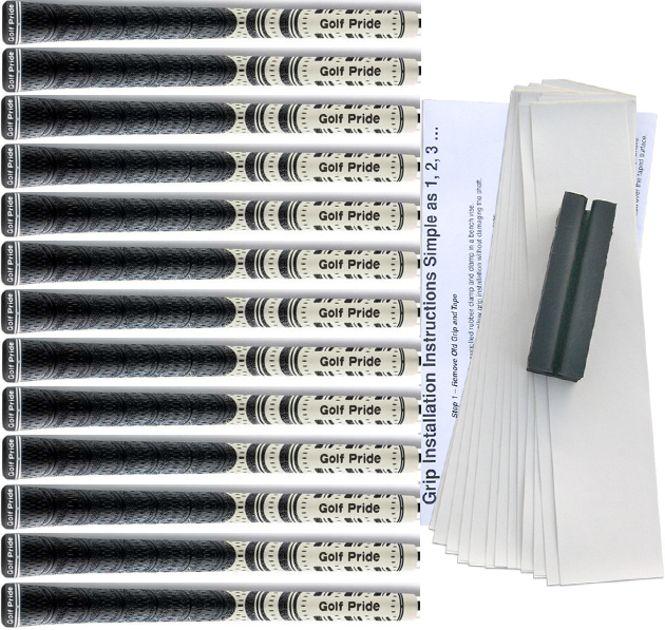 """Golf Pride Midsize (+1/16"""") White Multi-Compound Cord Grip Kit"""