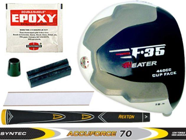 Heater F-35 Cup Face Offset Titanium Driver Component Kit