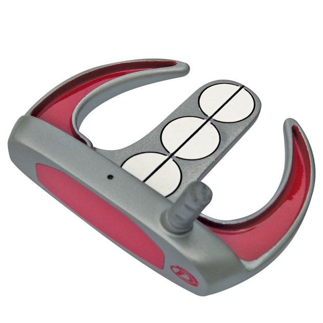 Armada Mallet Putter Head - Red/Gray
