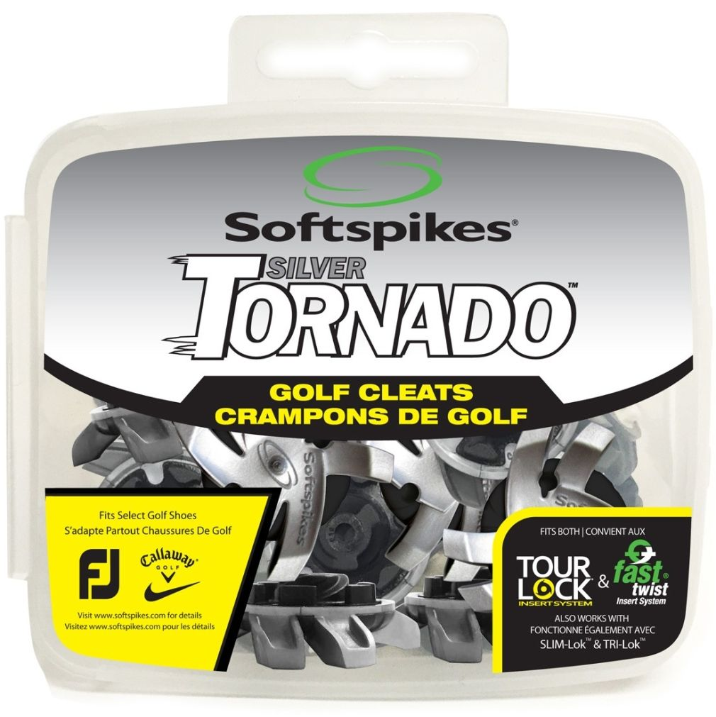 Softspikes Silver Tornado Golf Cleats - Tour Lock