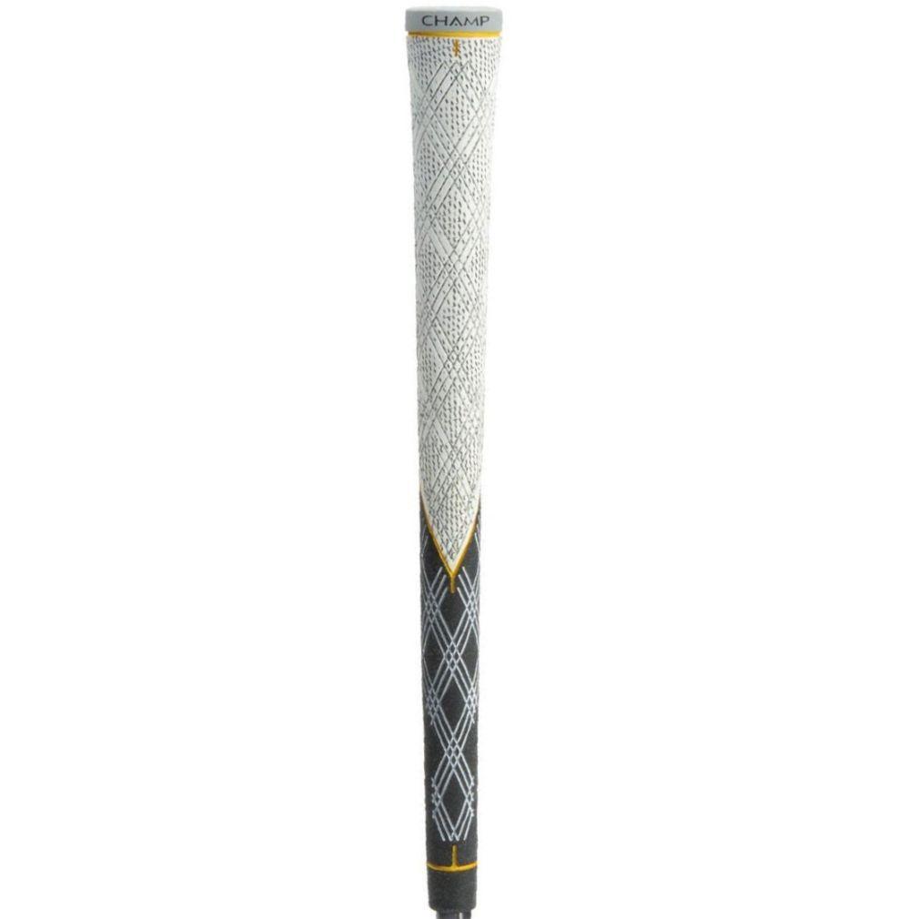 """Champ C6 Half Cord Golf Grip - Standard White/Black 0.600"""" Round"""