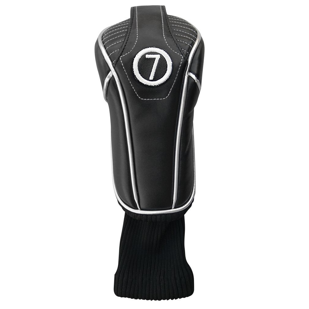 Synthetic Black Headcover with Sock - Hybrid