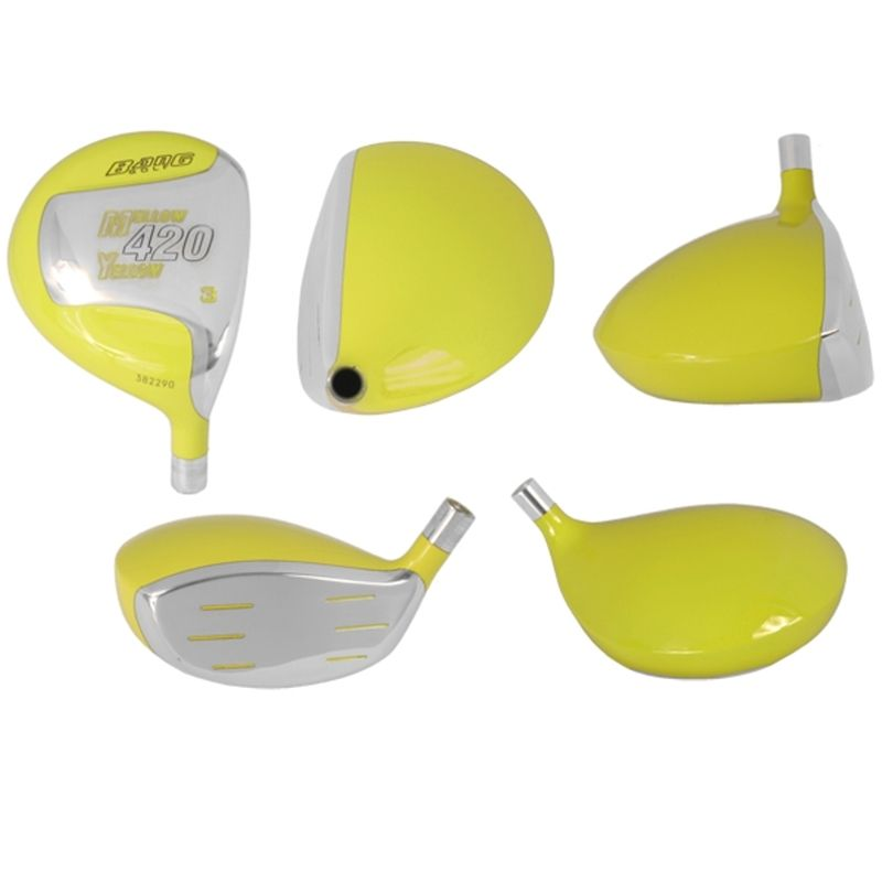 Custom-Built Bang Golf Mellow Yellow Fairway Woods