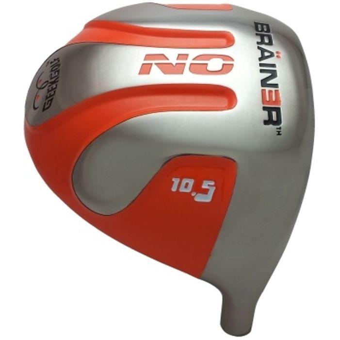 Geek Golf No Brainer Titanium Driver Head Orange