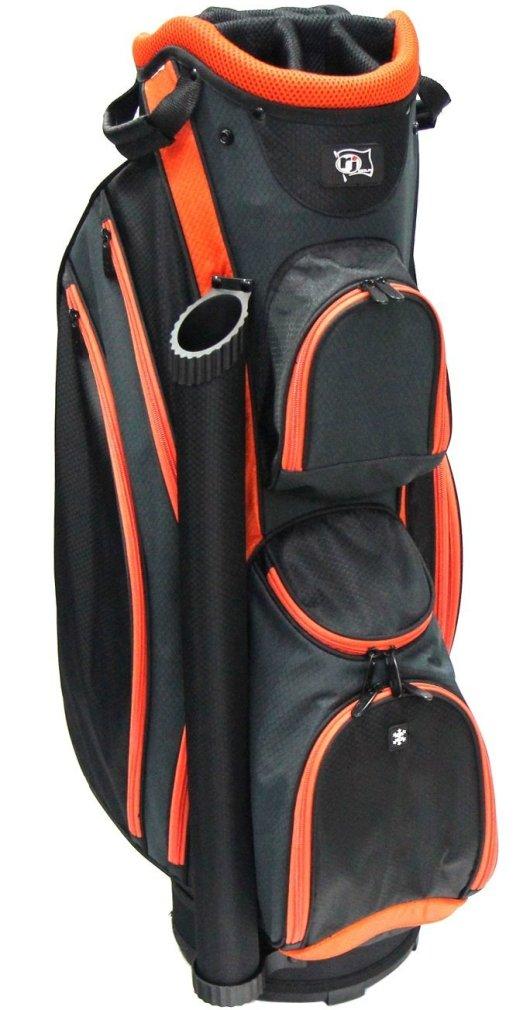 RJ Sports DS-590 Cart Bag - Black/Orange