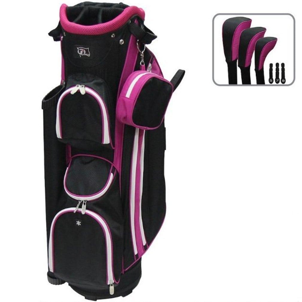 Rj Sports LB-960 Ladies Cart Bag - Black/Pink