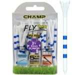 "Champ My Hite FLYTee - 3.25"" White / Striped Blue Golf Tees 25 pack"