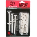 "Zero Friction Lock n Drive 3.25"" White Golf Tees - 18 pack"