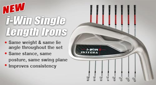 Integra i-Win Single Length Iron Heads