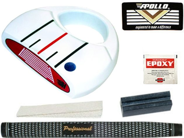Heater III White Mallet Putter Component Kit LH