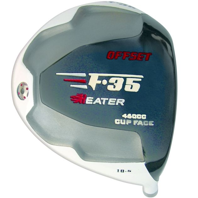 Heater F-35 Cup Face Offset White Titanium Driver Head RH