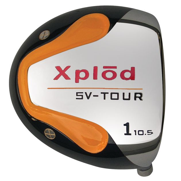 Built Xplod Round Orange Titanium Driver with Graphite Shaft