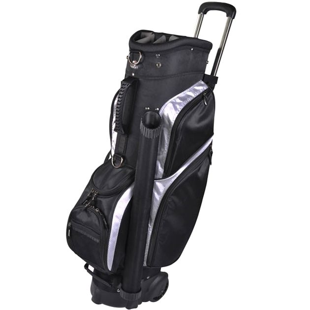 "RJ Sports Wheeled 9.5"" Transport Bag - Black/Silver"
