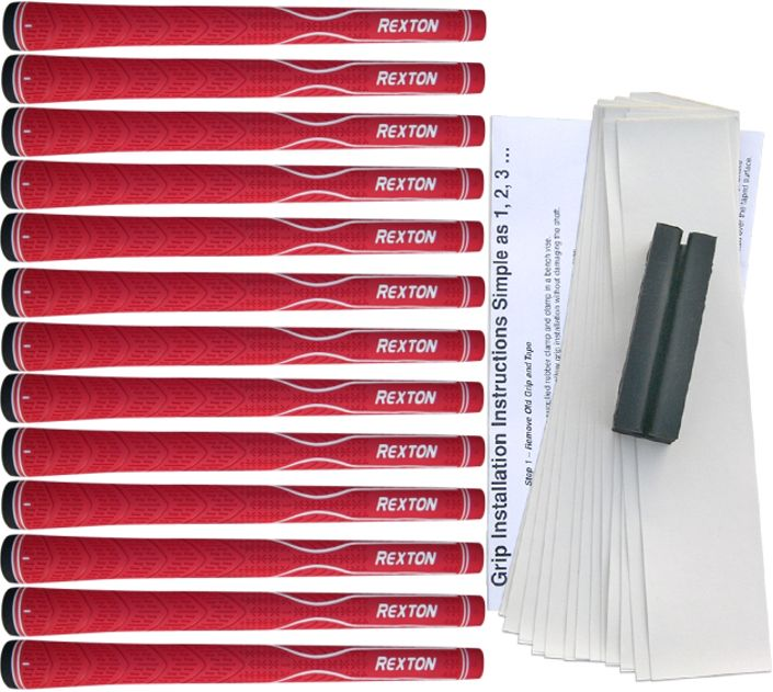 Rexton V-Line Red 13 pc Grip Kit