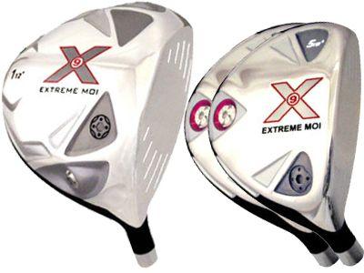 Built X9 Extreme MOI Titanium Driver + 2 x Fairway Woods Left Hand