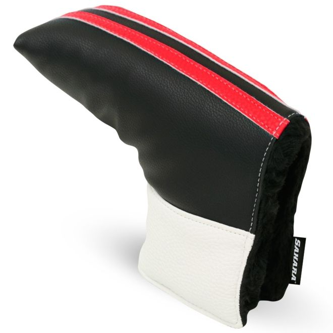 Sahara Retro Black/White/Red Golf Putter Headcover