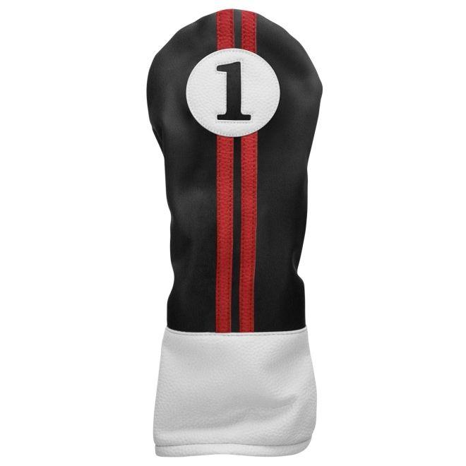 Sahara Retro Golf Headcover Black/Red/White - Driver