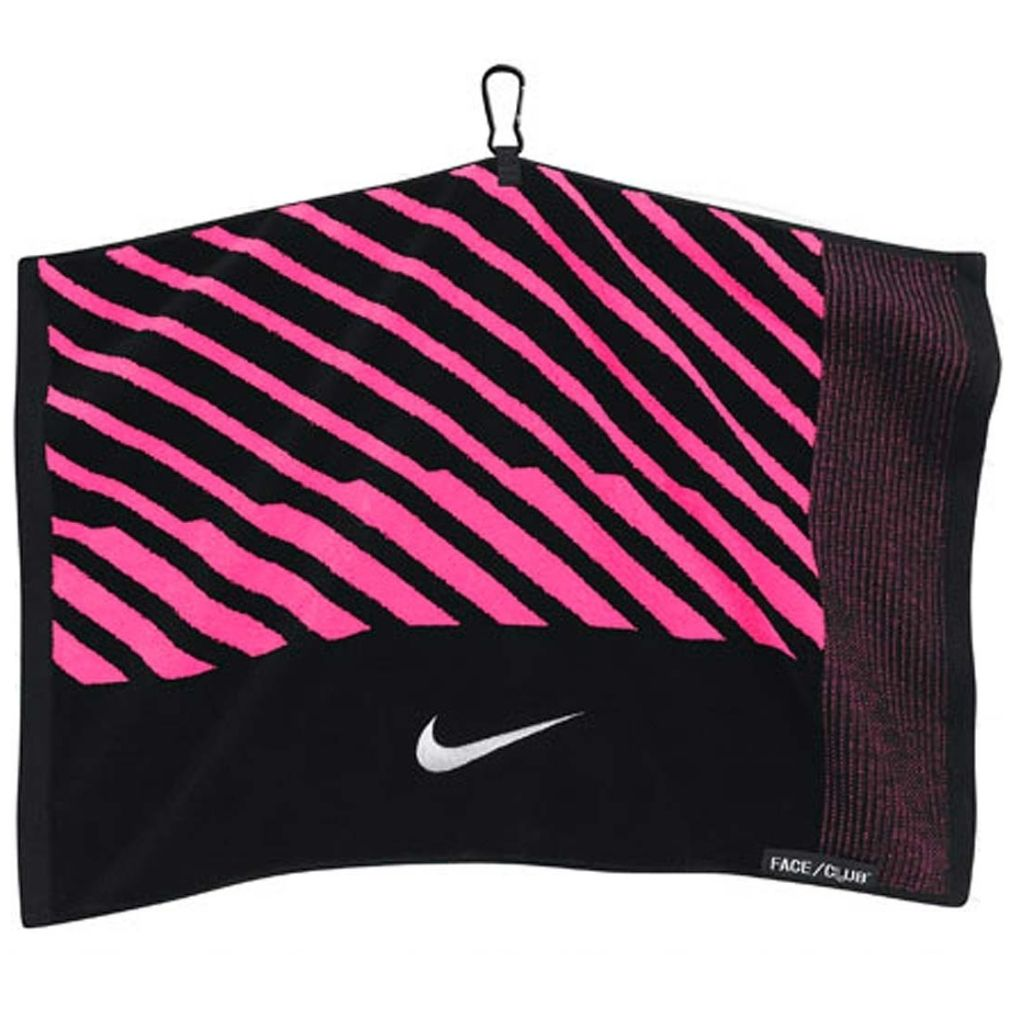 Nike Face/Club Jacquard Towel - Black/Pink