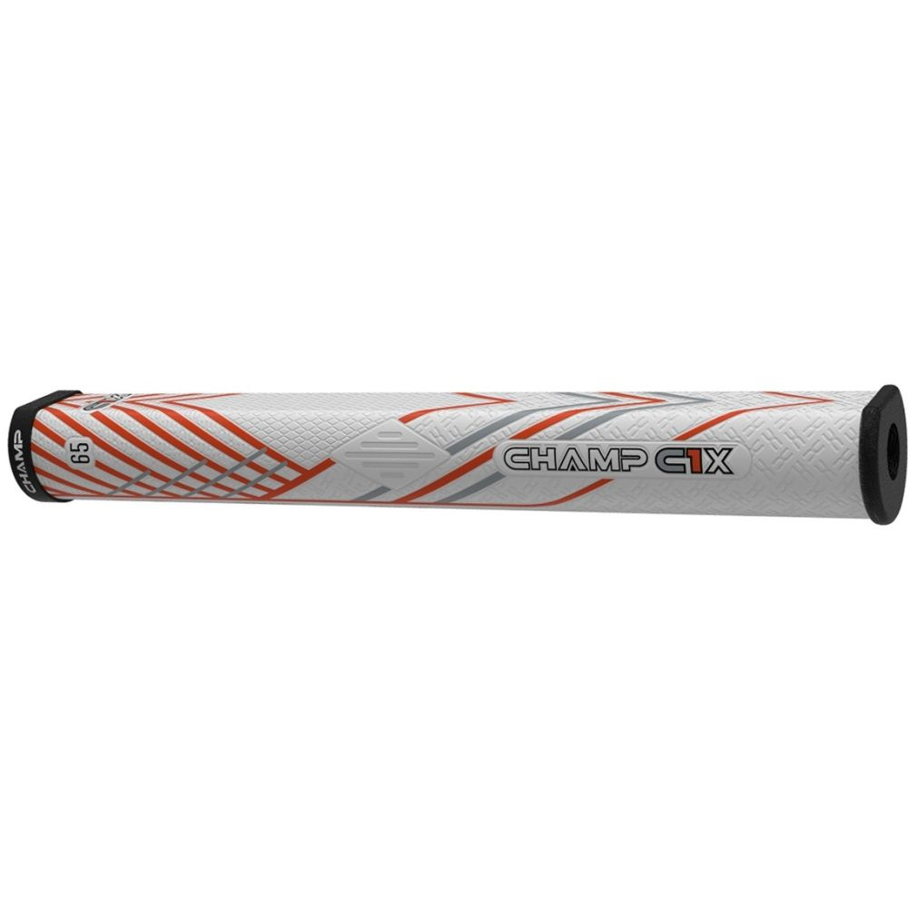 Champ C1X Putter Golf Grip - Midsize White/Orange/Black