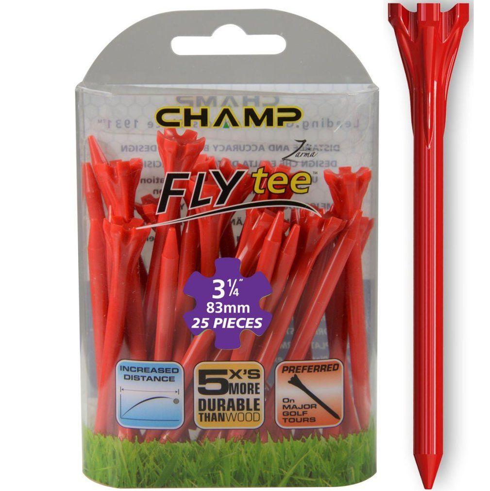 "Champ Zarma FLYTee - 3.25"" Red Golf Tees 25 pack"