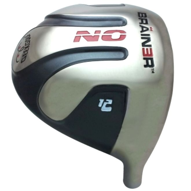 Geek Golf No Brainer Titanium Driver Head Grey