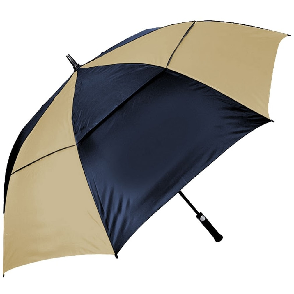 Orlimar Cyclone Auto Opening Umbrella - Navy/Tan