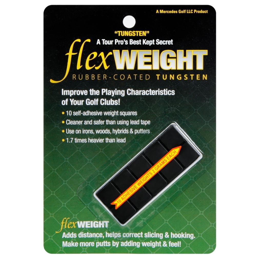 FlexTee Rubber Tungsten Golf Club Weights - 10 Pack