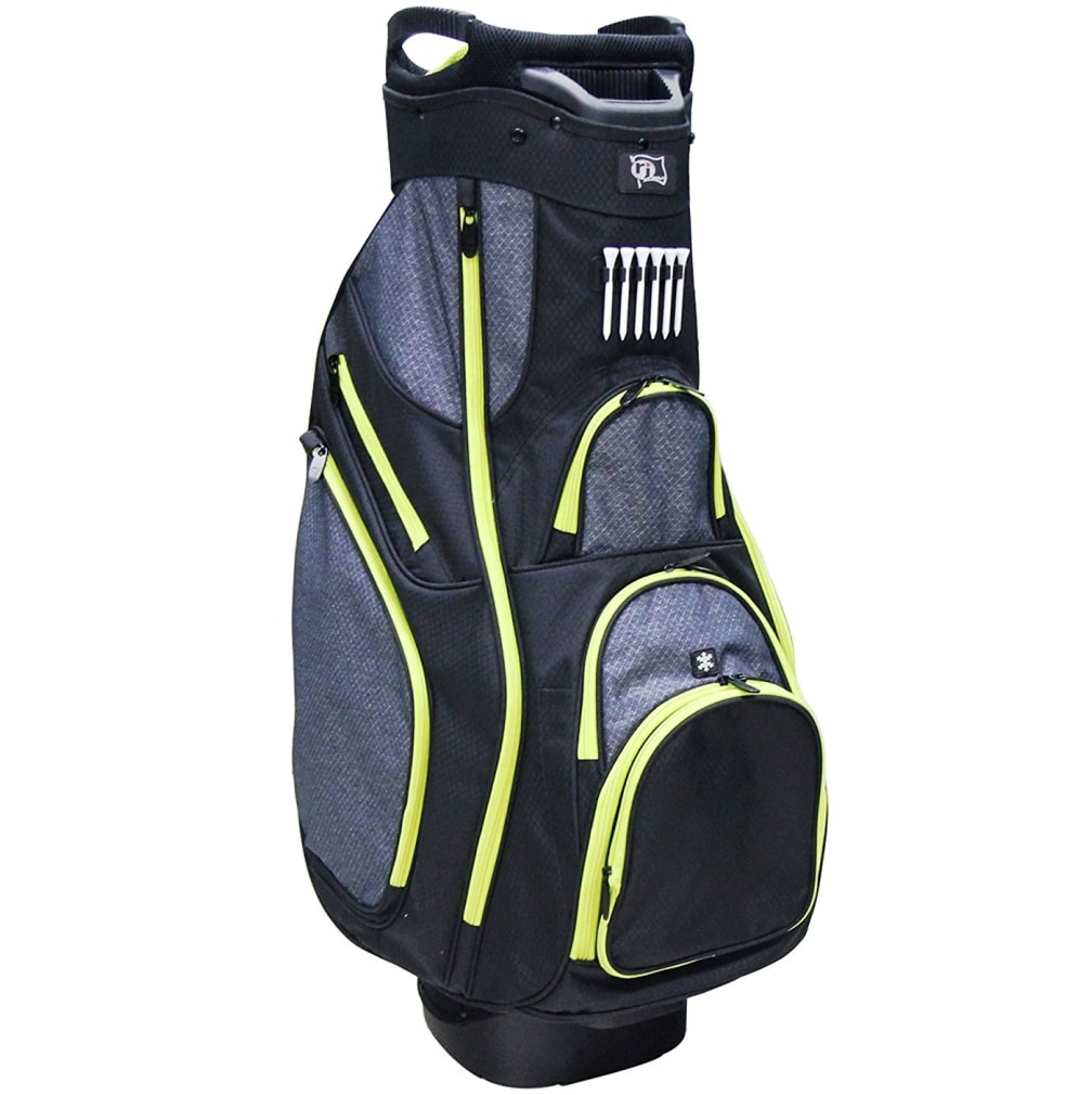 RJ Sports OX-820 Cart Bag - Black/Black