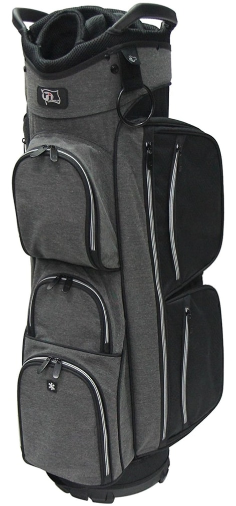 RJ Sports EL-680 Cart Bag - Black/Black