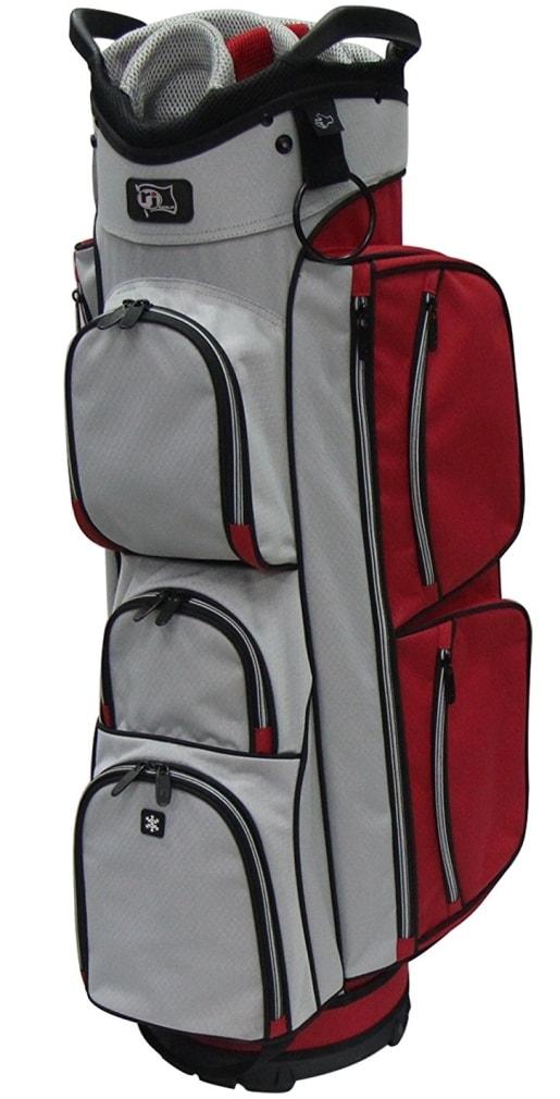 RJ Sports EL-680 Cart Bag - Red/Grey