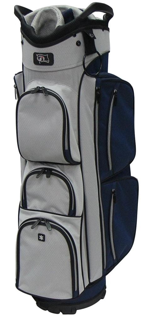 RJ Sports EL-680 Cart Bag - Navy/Grey