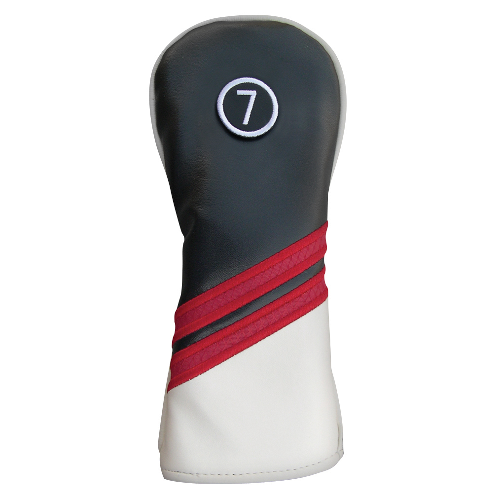 Synthetic Headcover Black/Red/White - Hybrid
