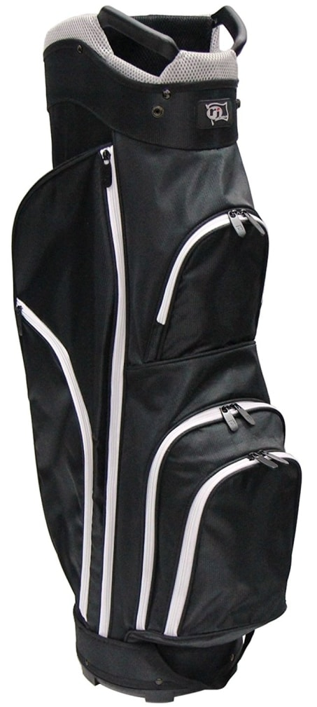 RJ Sports CC-490 Cart Bag - Black/Black