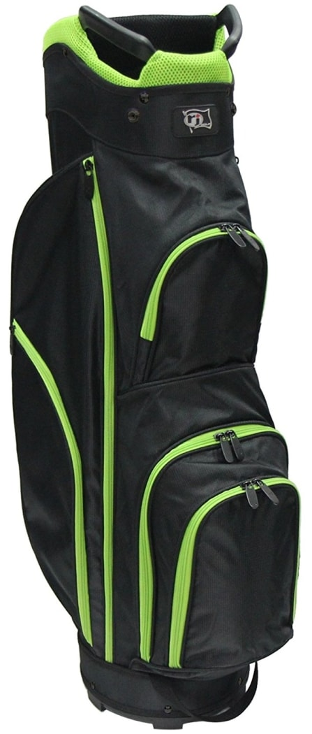 RJ Sports CC-490 Cart Bag - Black/Lime Green