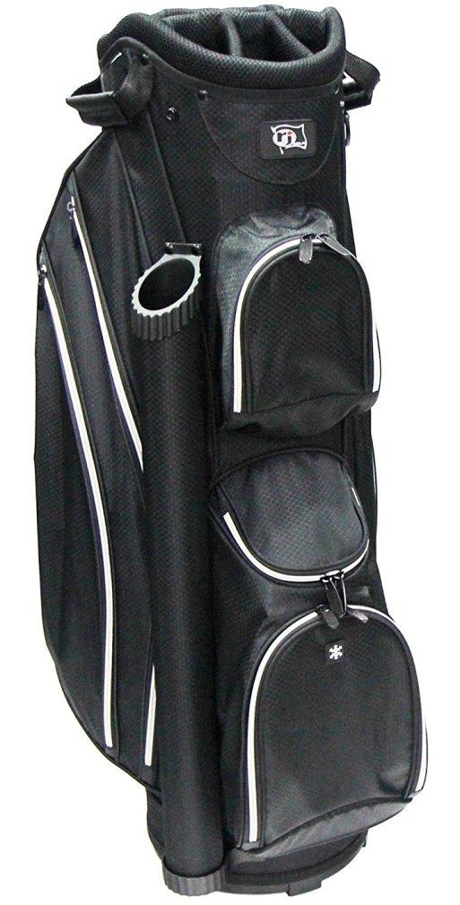 RJ Sports DS-590 Cart Bag - Black/Black