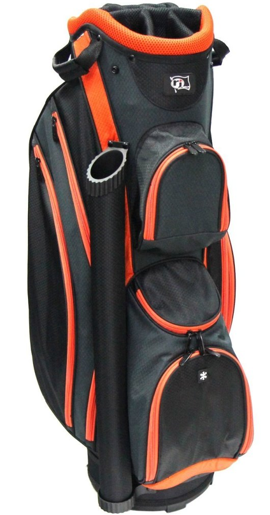 RJ Sports DS-590 Cart Bag - Black/Orange