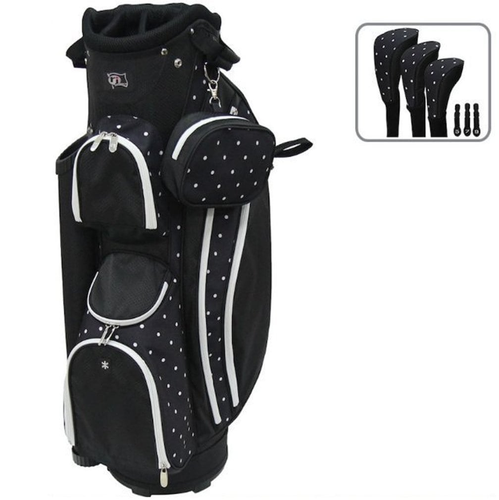 RJ Sports LB-960 Ladies Cart Bag - Polk-A-Dot