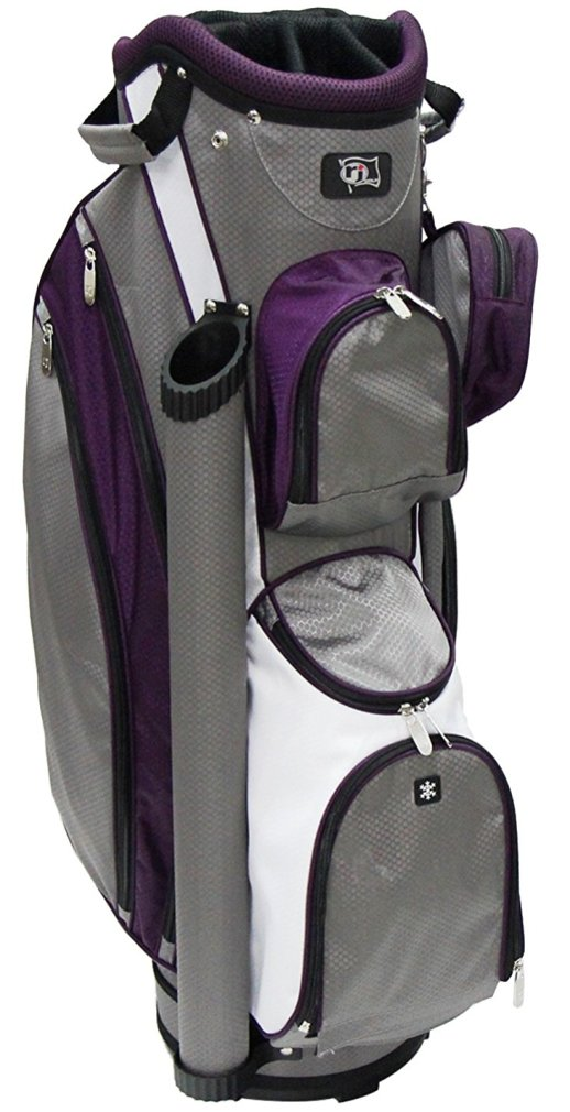 RJ Sports LB-960 Ladies Cart Bag - Grey/Purple