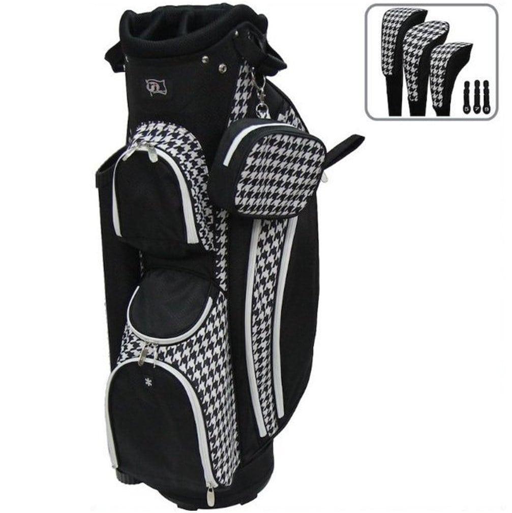 RJ Sports LB-960 Ladies Cart Bag - Houndstooth