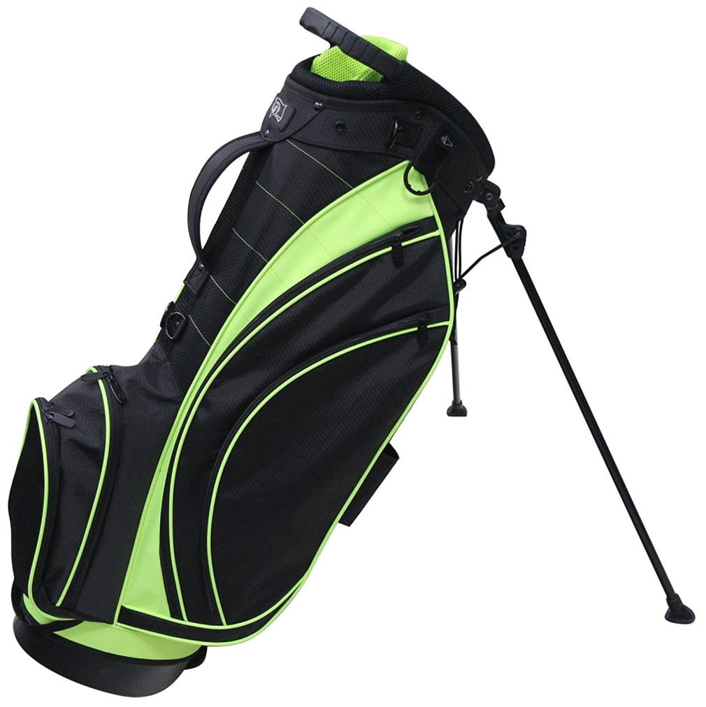 RJ Sports SB-495 Stand Bag - Black/Lime