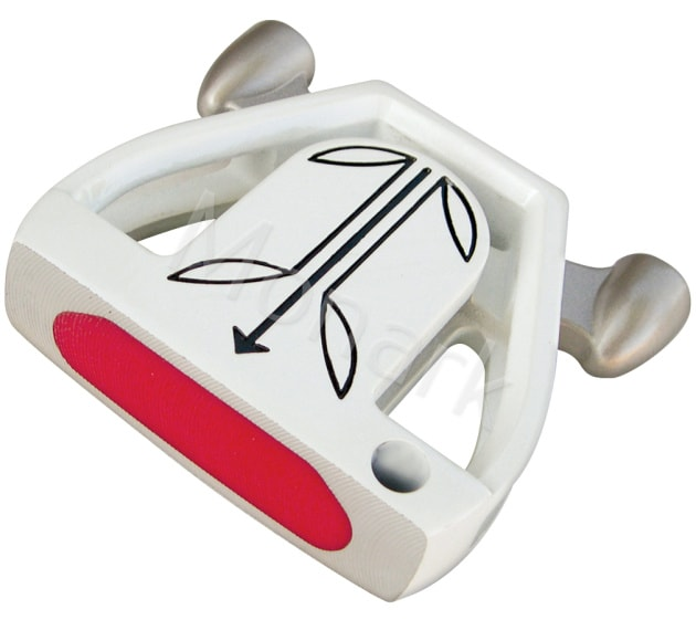 T-7 Twin Engine White Mallet Putter Head - Right Hand
