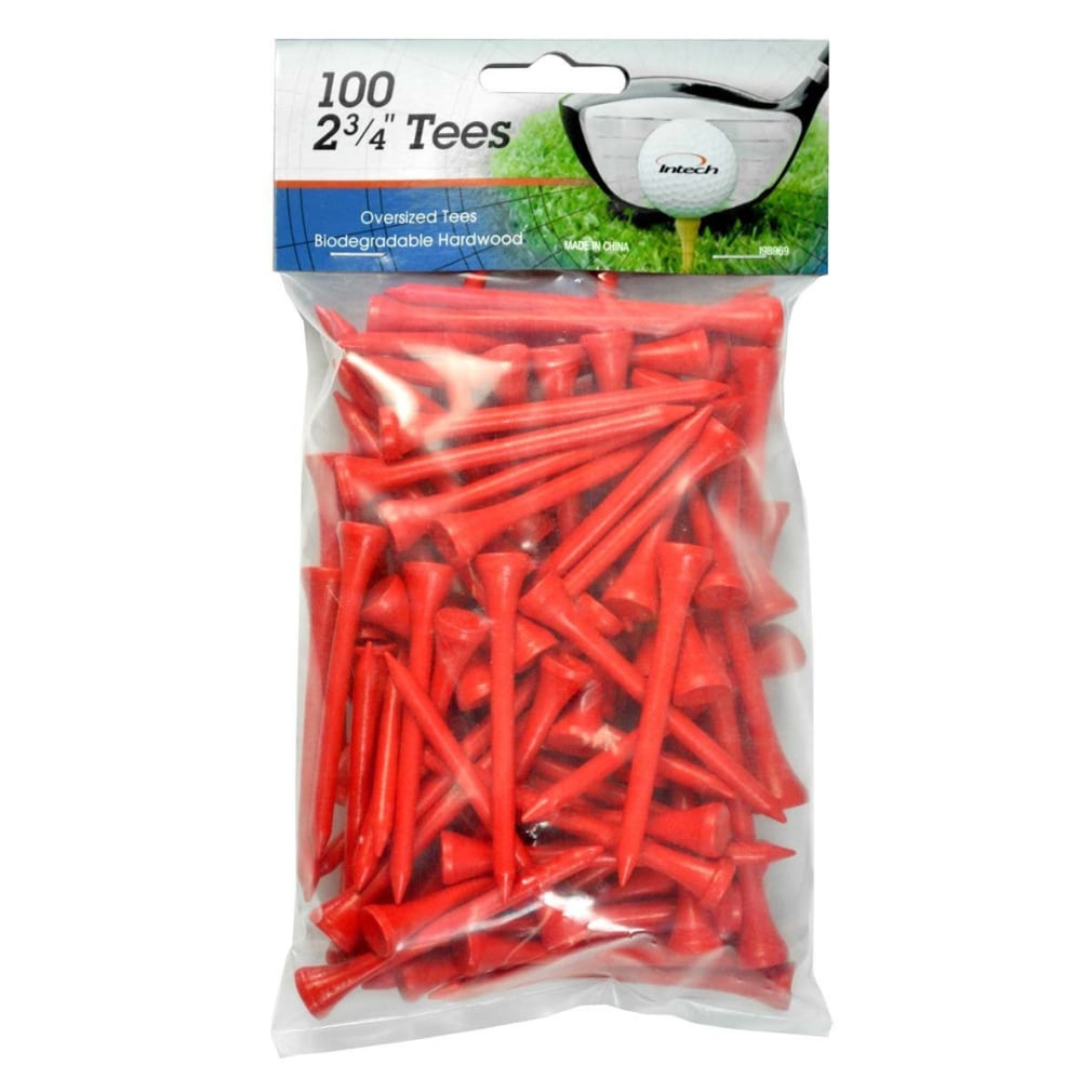 Intech 2 3/4-Inch Golf Tees 100-Pack - Red