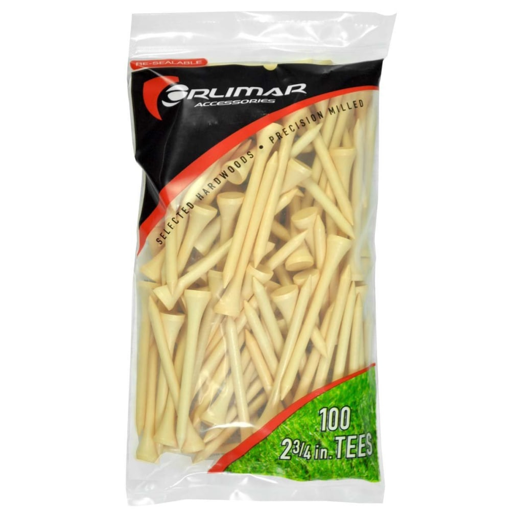 Orlimar 2 3/4-Inch Golf Tees 100-Pack - Natural