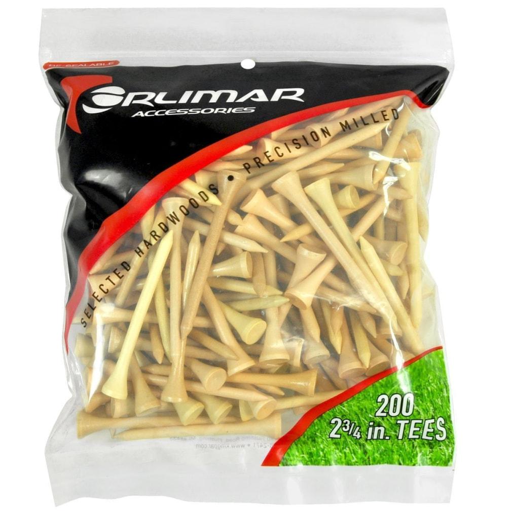 Orlimar 2 3/4-Inch Golf Tees 200-Pack - Natural