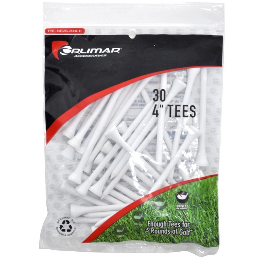 Orlimar 4-Inch White Golf Tees
