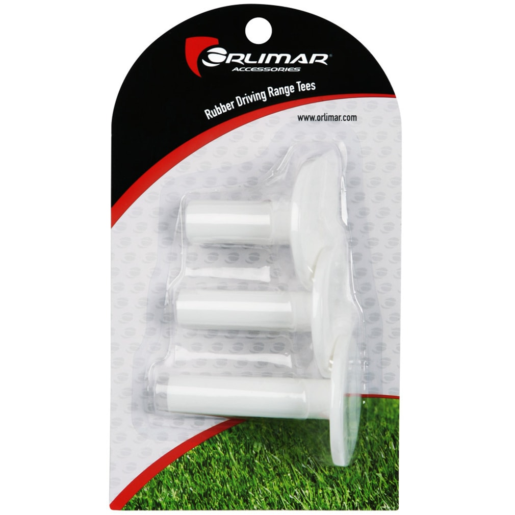 Orlimar Rubber Driving Range Tees (3 Pack)