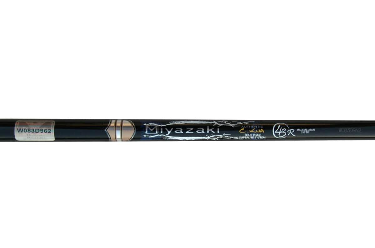 """Miyazaki C. Kua 43 Black 0.350"""" Graphite Wood Shaft"""