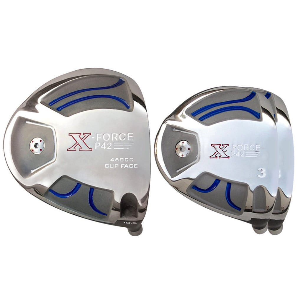 Built X-Force P42 Titanium Driver + 2 x Fairway Woods