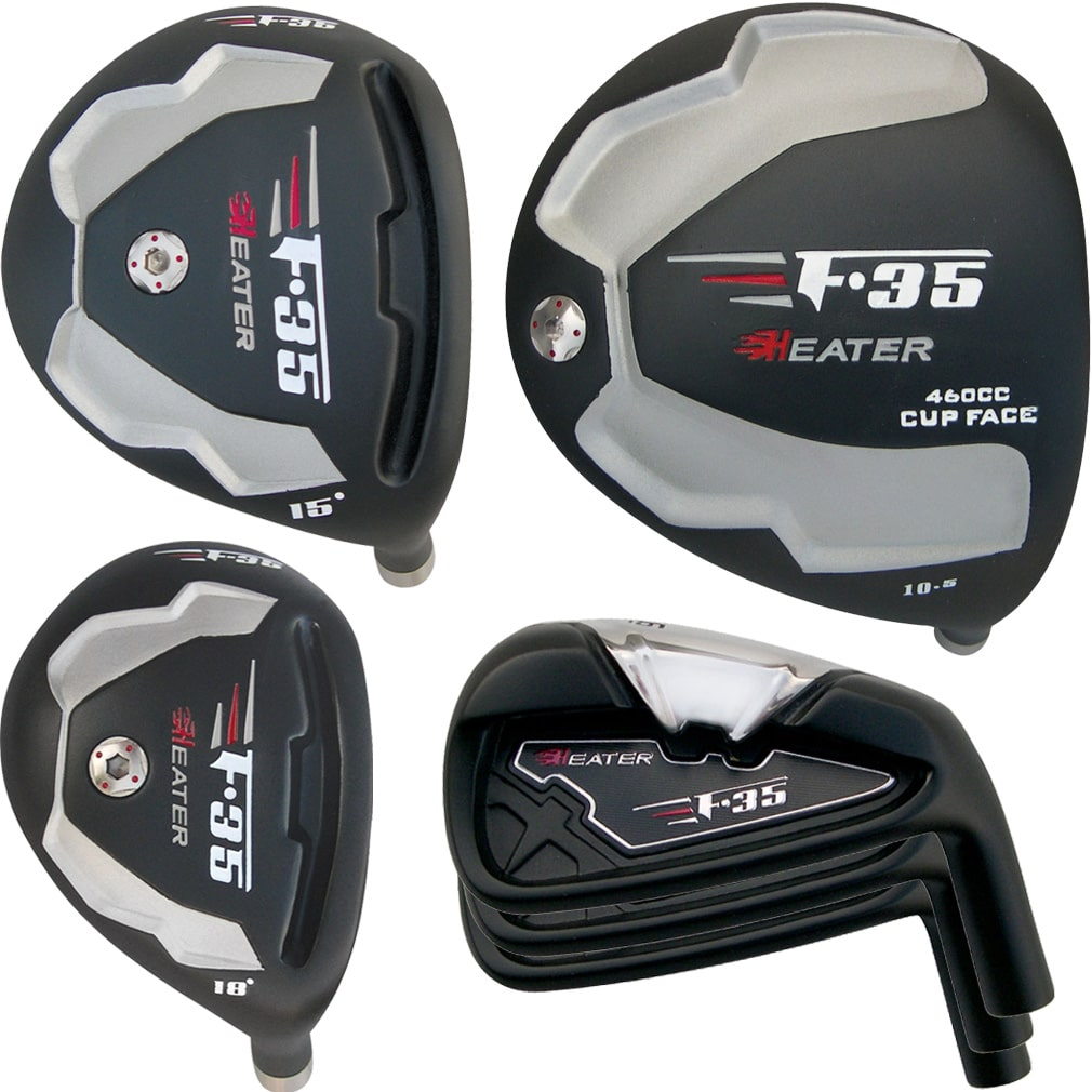 Built Heater F-35 Black 9-Club Set RH