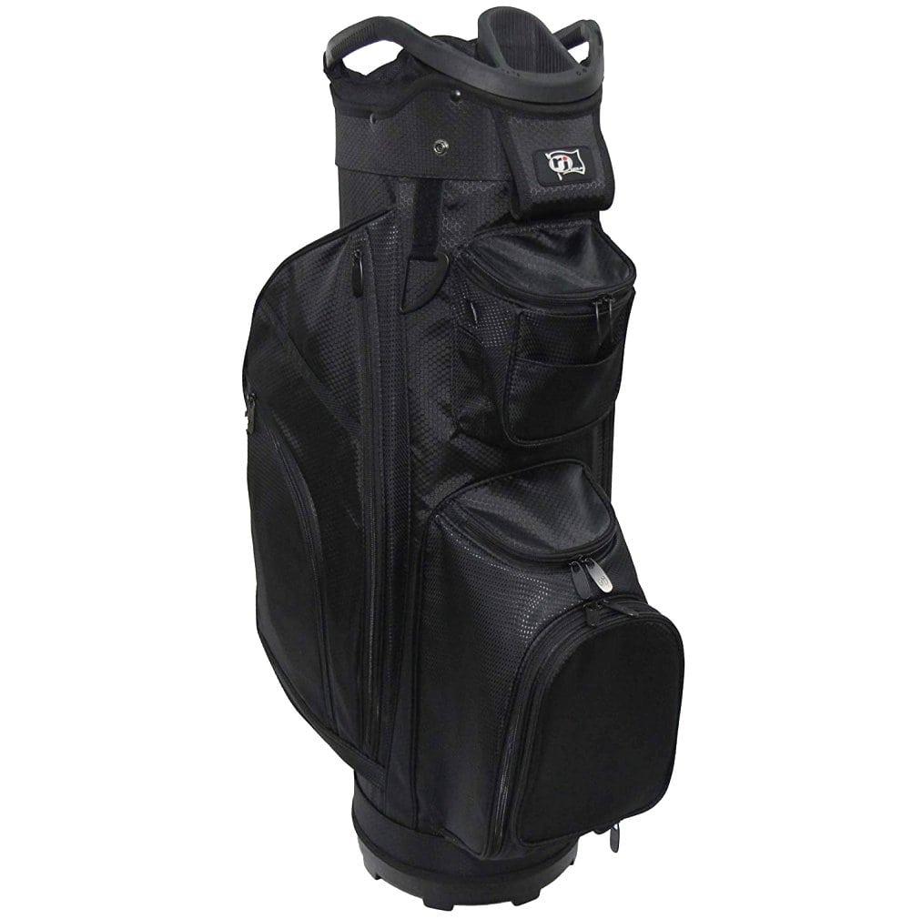 """RJ Sports RJ19 9.5"""" Deluxe Cart Bag Black/Black"""